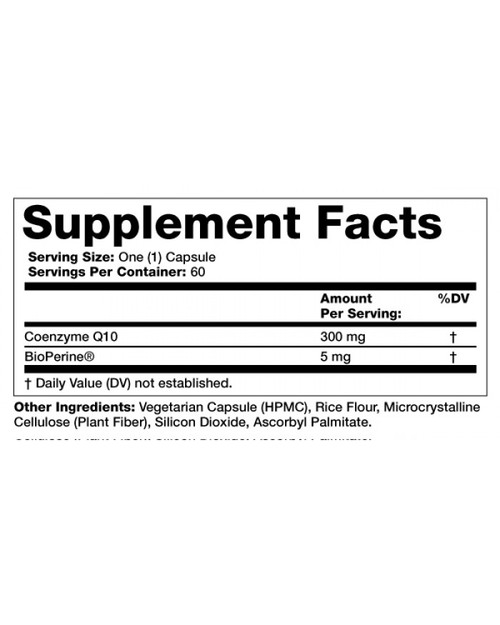 Supplement Facts for Olympian Labs CoQ10  300 mg 60 Capsules