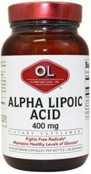 Olympian Labs Alpha Lipoic Acid  400 mg 60 Capsule