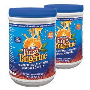Youngevity Beyond Tangy Tangerine  2 of 420 gr canisters