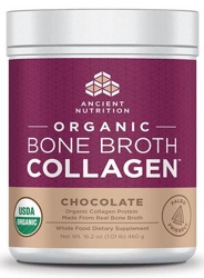 Ancient Nutrition Bone Broth Collagen Chocolate Organic 30 Servings