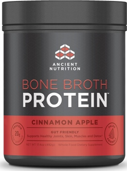 Ancient Nutrition Bone Broth Protein Cinnamon Apple 20 Servings