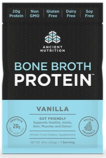 Ancient Nutrition Bone Broth Protein Vanilla Single Serving Pack