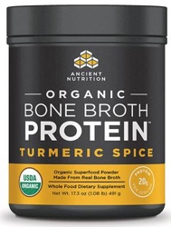 Ancient Nutrition Bone Broth Protein Turmeric Spice Organic 17 Servings
