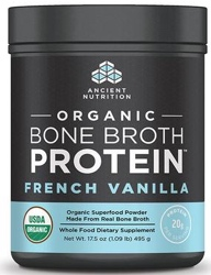 Ancient Nutrition Bone Broth Protein Vanilla Organic 17 Servings