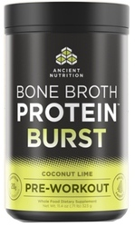 Ancient Nutrition Bone Broth Protein Burst  Coconut Lime 30 Servings
