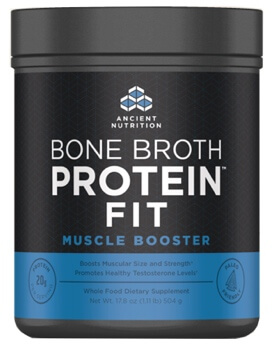 Ancient Nutrition Bone Broth Protein FIT Muscle Booster  20 Servings