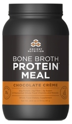 Ancient Nutrition Bone Broth Protein Meal  Chocolate Creme 20 Servings