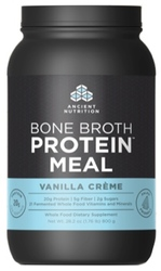 Ancient Nutrition Bone Broth Protein Meal  Vanilla Creme 20 Servings