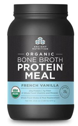 Ancient Nutrition Bone Broth Protein Meal Organic French Vanilla  15 Servings