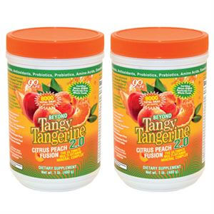 Youngevity BTT 2.0 Citrus Peach Fusion  2 of 480 gr canisters