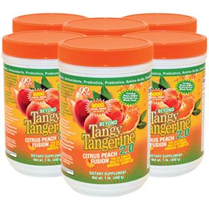 Youngevity BTT 2.0 Citrus Peach Fusion  6 of 480 gr canisters