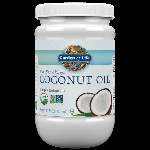 Garden of Life Coconut Oil Extra Virgin  14 oz BPA-Free Plastic Jar