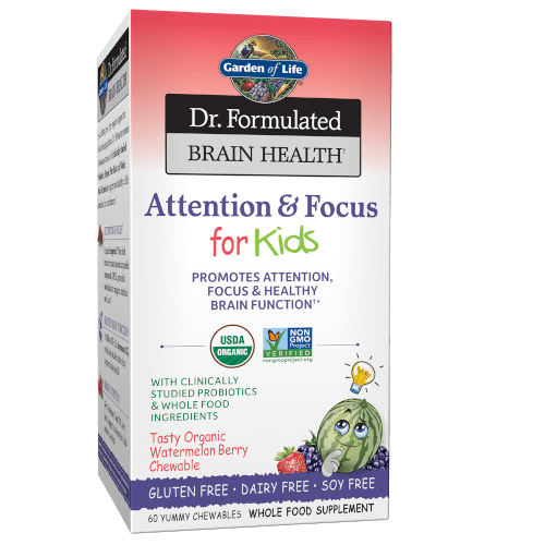 Garden of Life Dr Formulated Brain Health Memory and Focus for Kids  60 Chewables