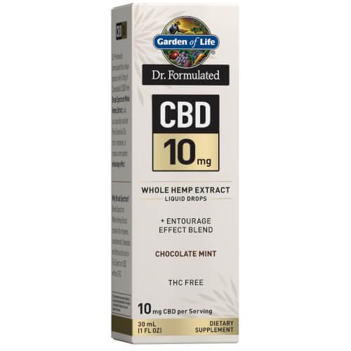 Garden of Life Dr Formulated CBD 10 mg Chocolate Mint Drops 1 oz