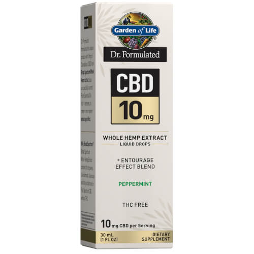Garden of Life Dr Formulated CBD 10 mg Peppermint Drops 1 oz