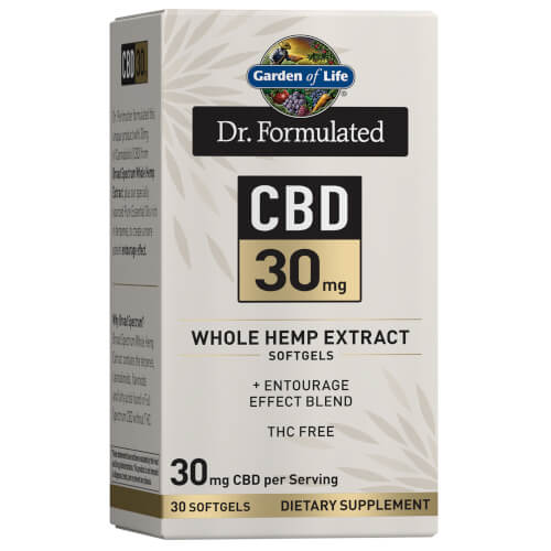 Garden of Life Dr Formulated CBD 30 mg 30 Softgels