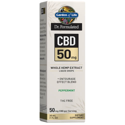 Garden of Life Dr Formulated CBD 50 mg Peppermint Drops 1 oz
