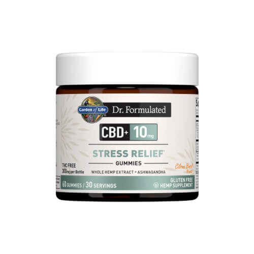 Garden of Life Dr Formulated CBD plus Stress Relief Citrus Burst 10mg 30 Gummies
