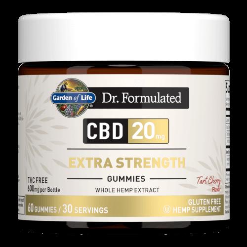 Garden of Life Dr Formulated CBD 20 mg Extra Strength Tart Cherry 30 Gummies
