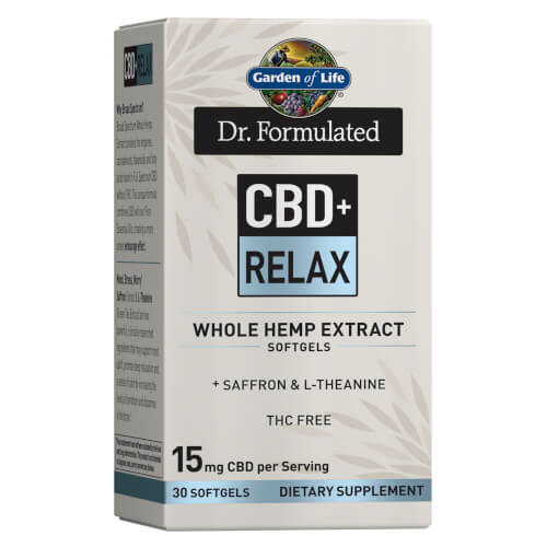 Garden of Life Dr Formulated CBD plus Relax 15 mg 30 Softgels