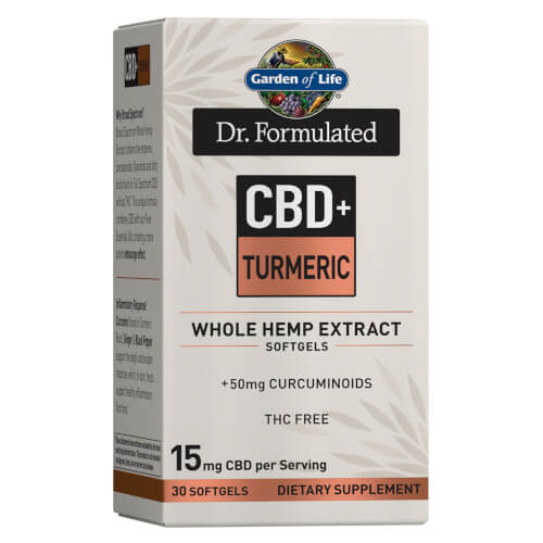 Garden of Life Dr Formulated CBD plus Turmeric 15 mg 30 Softgels