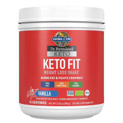 Garden of Life Dr Formulated Keto Fit Vanilla 12.52 oz Powder
