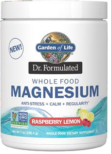 Garden of Life Dr Formulated Magnesium  Raspberry Lemon 14.8 oz Powder