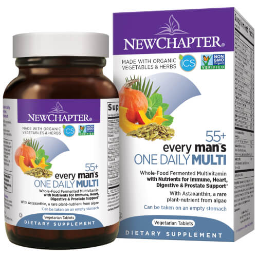 New Chapter Every Man One Daily 55 Plus  96 Tablets