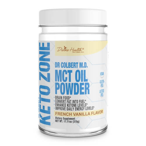 Dr Colbert Keto Zone MCT Oil Vanilla Flavor 30 Servings Powder