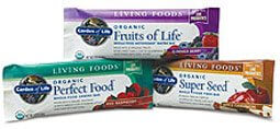 Garden of Life Living Foods Bars  Fruits of Life  Box of 12 Bars