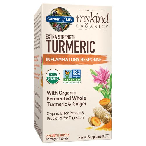 Garden of Life MyKind Organics Extra Strength Turmeric Inflammatory Response  60 Tablets