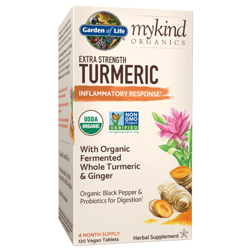 Garden of Life MyKind Organics Extra Strength Turmeric Inflammatory Response  120 Tablets