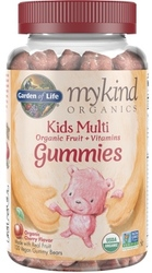 Garden of Life MyKind Organics Kids Gummy Multi  Cherry Flavor 120 Chews