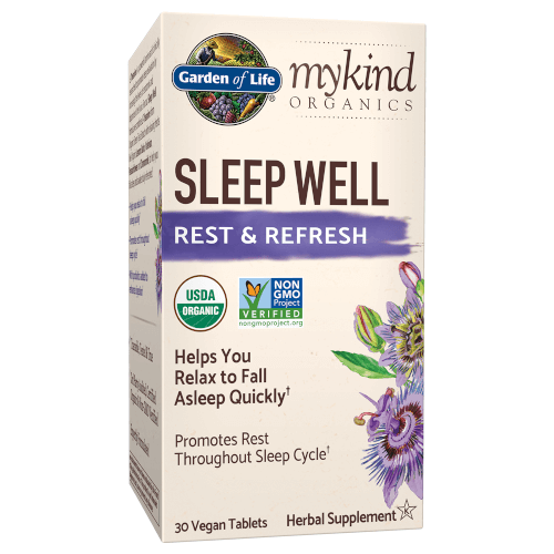Garden of Life MyKind Organics Sleep Well Rest and Refresh  30 Tablets