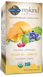 Garden of Life MyKind Organics Vegan D3 Chewable   30 Raspberry-Lemon Organic Tablets