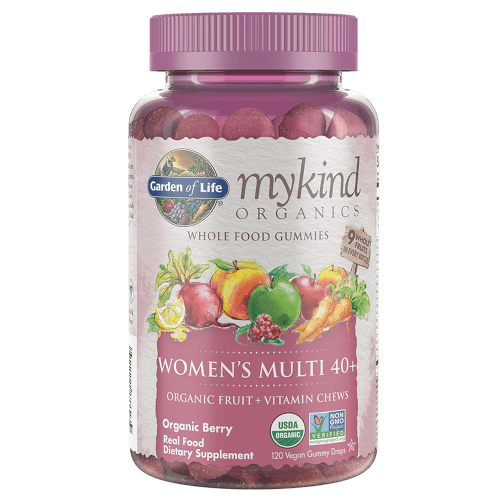 Garden of Life MyKind Organics Womens 40 Plus Gummy Multi  Berry 120 Fruit Chews