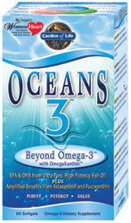 Garden of Life Oceans 3 Beyond Omega-3  60 Softgels