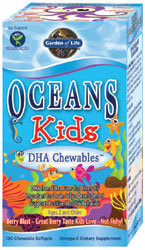 Garden of Life Oceans 3 Kids Chewable  120 Softgels
