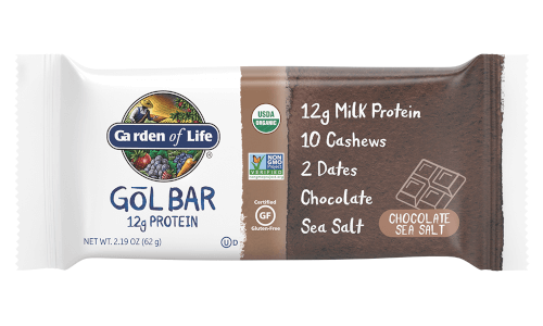 Garden of Life Organic GOL Bars Chocolate Sea Salt 1 Box of 12 Bars