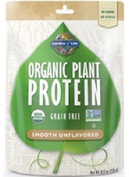 Garden of Life Organic Plant Protein  Smooth Unflavored 236 gram