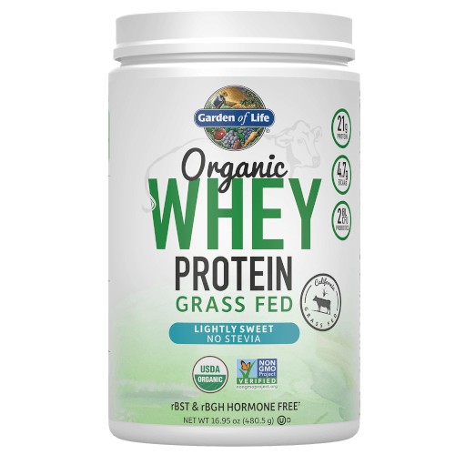 Garden of Life Organic Whey Protein Lightly Sweet 480 gram Grass Fed