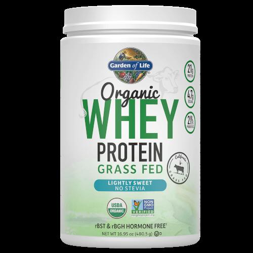Garden of Life Organic Whey Protein Lightly Sweet 480 gram Grass Fed