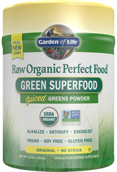 Garden of Life Perfect Food Raw  No Stevia 419 gram powder