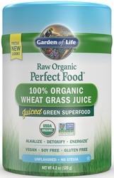 Garden of Life Perfect Food Raw Wheat Grass Juice  Organic 120 gram powder