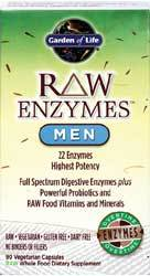 Garden of Life RAW Enzymes Men  90 Capsules