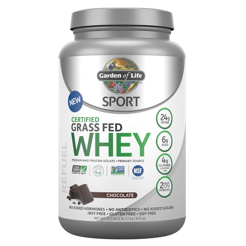 Garden of Life SPORT Certified Grass Fed Whey Chocolate 672 gm Powder