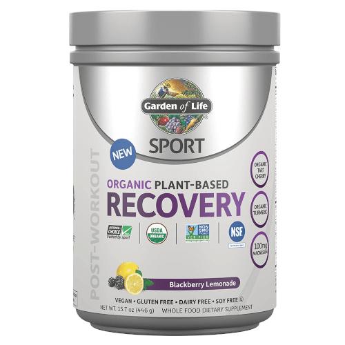 Garden of Life SPORT Organic Plant-Based Recovery Blackberry Lemonade 446 gram powder