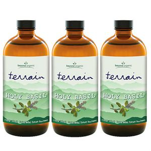 Beyond Organic Terrain Holy Basil  3 of 16 oz bottles