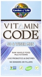 Garden of Life Vitamin Code Mens 50 and Wiser  120 capsules
