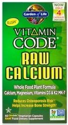 Garden of Life Vitamin Code Raw Calcium  NEW 120 Capsules